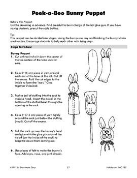 Peek-a-Boo Bunny Puppet