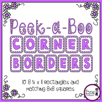 Square Borders {Peek-a-Boo Corner}