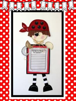 Peek-a-Boo Pirate Writing Project