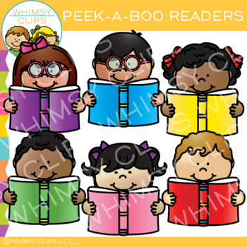 Peek-a-Boo Readers Clip Art