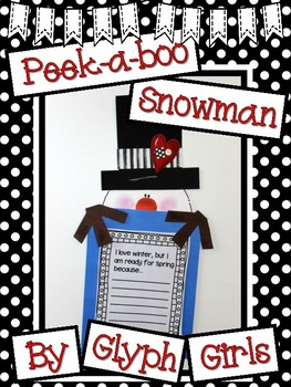 Peek-a-Boo Snowman Writing Project