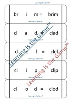 Peek-a-Boo! for CCVC & CVCC blends ELA-Literacy.RF.1.2