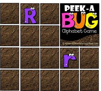 Peek-a-Bug Alphabet Game
