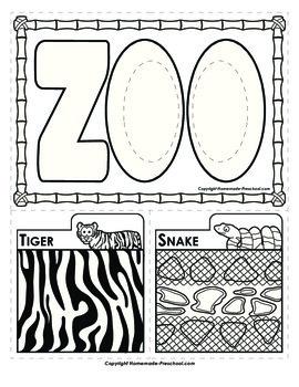 Peek-a-Zoo Animal Patterns