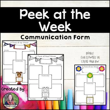 Peek at the Week: Communication Form