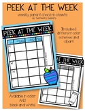 Peek at the Week Pack - Parent Check-In Sheets