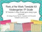 Peek at the Week Templates (Kindergarten-5th Grade)