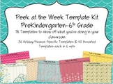 Peek at the Week Templates (PreKindergarten-6th Grade)