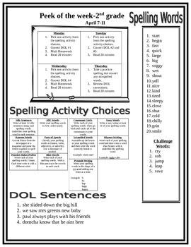 Peek of the Week-2nd Grade