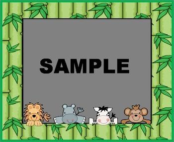 Peeking Jungle Babies Labels