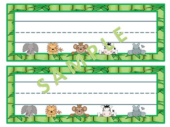Peeking Jungle Babies Nameplates.