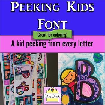 Peeking Kids Font