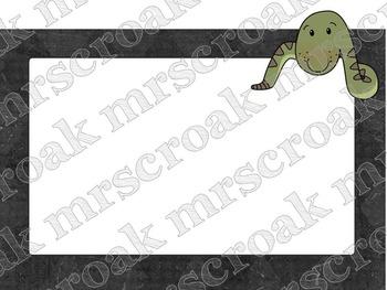 FREE - Labels: Peeking Snake, 10 per page
