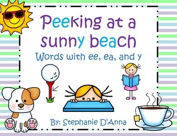 Peeking at a Sunny Beach! Words with ee, ea and y.