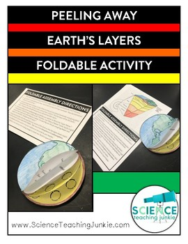 Peeling Away Earth's Layers Foldable Activity