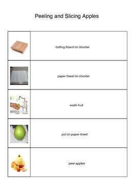 Peeling and Slicing Apple Visual Recipe