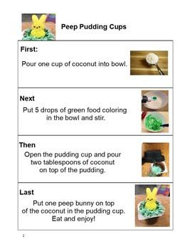 Peep Cooking Activity