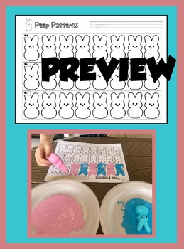 Peep Patterns Painting Practice - Easter Spring- AB ABB ABC