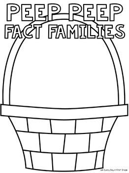 Peep Peep Fact Family Craft {freebie!}
