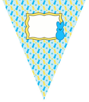 Peep Pennants Decorative Banners