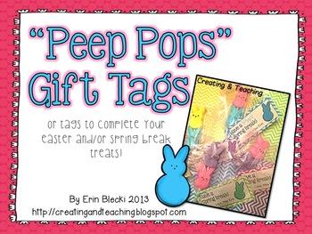 Peep Pop Gift Tags