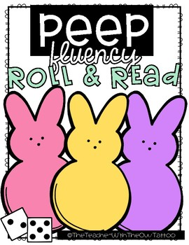 Peep Sight Word Fluency Roll and Read