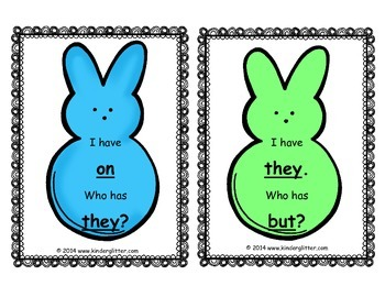 """Peep"" Spring Sight Word Literacy Game"