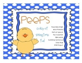 Peep - Springtime Fun! Math and Literacy