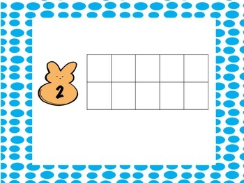 Peep themed math 1-10 (ten frame included) notecards