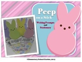 Peep on a Stick - Easter Writing Prompts and Stationary