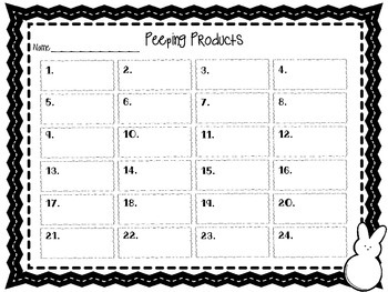 "Multiplication Scoot Task Cards {Roam the Room} ""Peeping Products"""