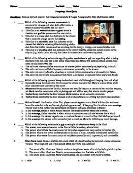 Peeping Tom Film (1960) 15-Question Multiple Choice Quiz