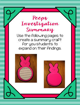 Peeps: A Science Investigation Mini-book and Writing Page