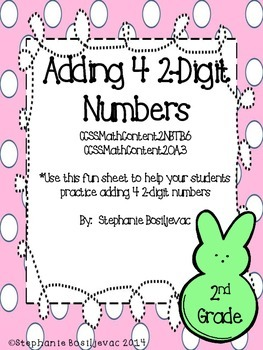 Peeps Adding 4 2-Digit Numbers