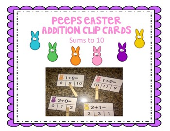 Peeps Addition Clip cards