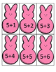 Peeps Addition Facts 5's