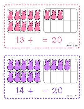 Peeps Addition Math Mats