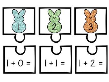 Peeps Addition Mini Puzzles - Numbers 1-9