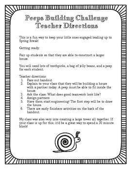 Easter STEM Peeps Building Challenge