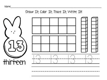 Peeps Counting Center & Printables