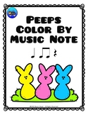 Peeps Easter Color By Music Note Rhythm Coloring - Quarter Rest