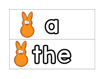 Peeps Easter Sight word cards