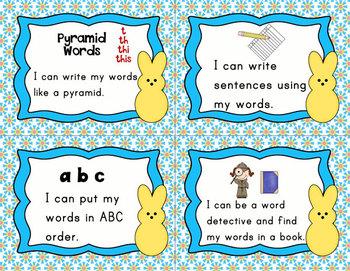 Peeps Literacy Center Word Work Task Cards