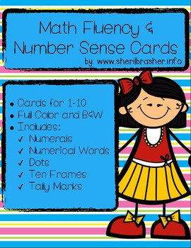 Peeps Math Fluency & Number Sense Cards | English | 1-10