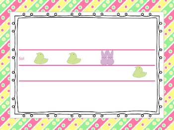 Easter Peeps Melodies--Teaching & Reading sol mi and sol mi la patterns