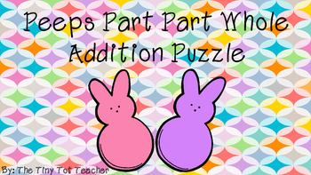Peeps Part Part Whole Addition Puzzle