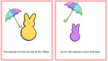 Peeps Positional Words mini books