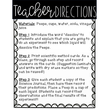 Peeps Science Experiment by Teacher With Coffee