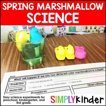 Easter Activities - Spring Marshmallow Science