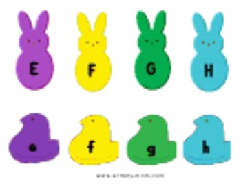 Peeps Themed Letter Matching